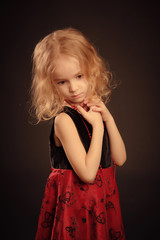 Little sad girl portrait