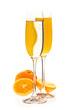Sekt und Sekt-Orange mit Orangen
