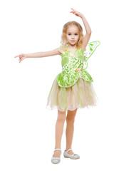 Little dancing fairy girl