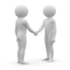 3d human - handshake