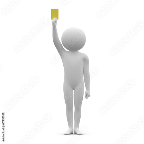 3d human - yellow card