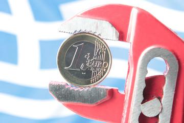 Der Euro in der Griechenlandzange