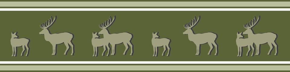 Hirsch und Reh grün