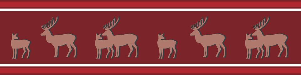 Hirsch und Reh rot