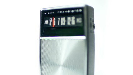 an old vintage portable AM transistor radio