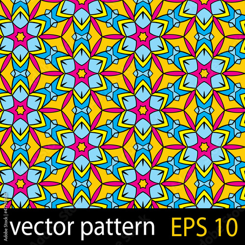 Abstract colorful pattern with geometric elements