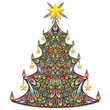 Christmas Tree Colorful Art Design-Albero Natale Ornamentale