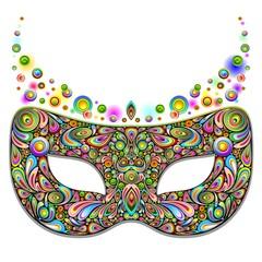 Carnival Mask Psychedelic Design-Maschera Carnevale Psichedelico