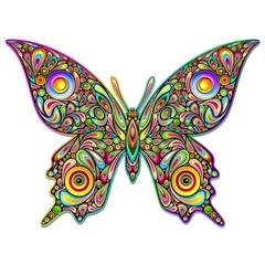 Butterfly Psychedelic Art Design-Farfalla Stile Psichedelico