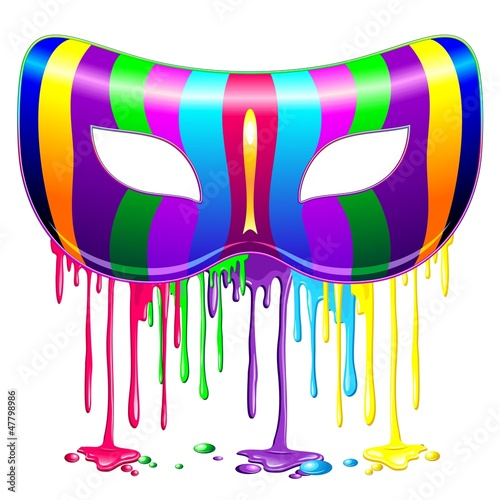 Carnival Mask Psychedelic Rainbow-Maschera Colore Psichedelico