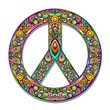 Peace Symbol Psychedelic Art Design-Simbolo Pace Psichedelico