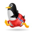 pinguino jogging