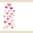 Hearts Pattern Love Letter Retro Dots