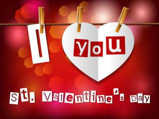 Открытка к Дню Святого Валентина.