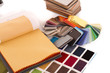 Leinwandbild Motiv Stoffe / Farbfächer