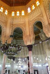 Interior view of Mosque , Alexandria, Egypt.