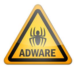 """Hazard Sign """"Adware"""""""