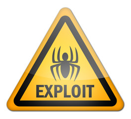 "Hazard Sign ""Exploit"""