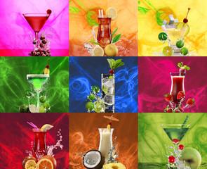 Nine cocktails centered
