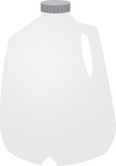 Isolated gallon of milk with cap