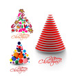Modern christmas tree design illustration design,