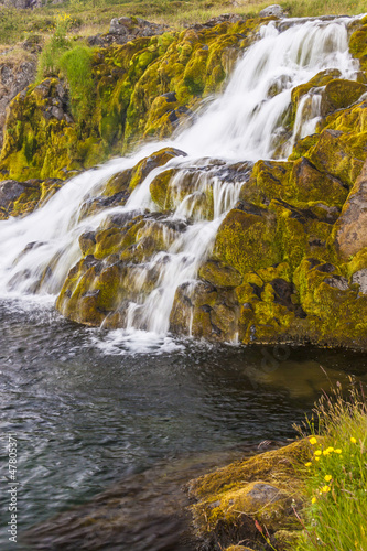 Clean water - waterfall, Iceland.