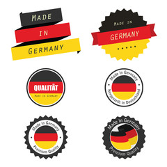Made in Germany labels, badges and stickers
