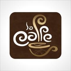 Logotipo cafetería