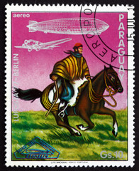 Postage stamp Paraguay 1977 Argentinian Gaucho