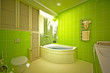 Eco, bamboo bathroom