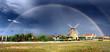 Aixerrota mill, in Getxo, under a rainbow