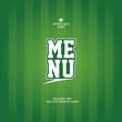 Sports Bar Menu card design template.
