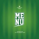 Sports Bar Menu card design template.  poster