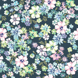 Fototapety blue seamless floral ditsy