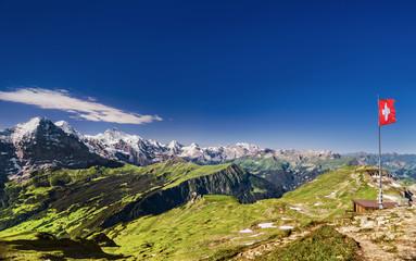 Sicht vom Faulhorn auf Eiger, Mönch & Jungfrau