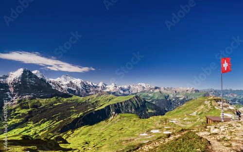 Sicht vom Faulhorn auf Eiger, Mönch & Jungfrau © Ben Burger
