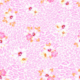 Fototapety Pastel flowers over animal seamless background
