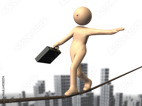 High-risk business, such as tightrope