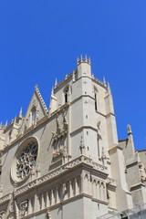 Détail de la cathédrale Saint Jean à Lyon