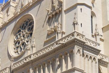 Détails de la cathédrale Saint Jean à Lyon