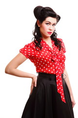 Pin-up girl American style retro woman