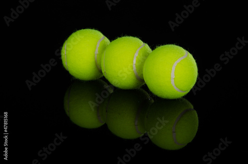 Staande foto Stierenvechten Three tennis balls