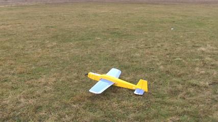 Start of model  plane in the sky