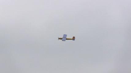 Landing of model of the plane