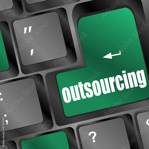 Outsourcing key on laptop keyboard