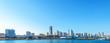 Panoramic view of Minato-Mirai skyline over Yokohama harbor - 47816324