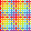 Seamless pattern with intersecting rainbow ribbons. Vector.
