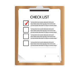Clipboard with check list  in graphic