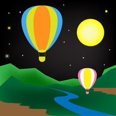 Balloon flights at night