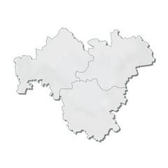 Region Franken Karte Umriss